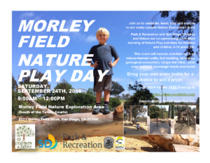 Morley Field Nature Play Day Flyer 9.24.16