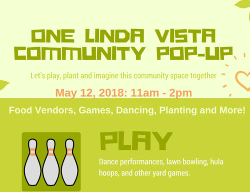 One Linda Vista Community Pop-up: May 12, 2018